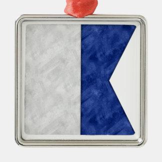 Ornamento De Metal Escolha de 26 bandeiras marítimas náuticas da
