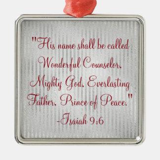 Ornamento De Metal Escritura maravilhosa do conselheiro do Natal