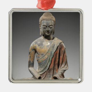 Ornamento De Metal Escultura descolorada de Buddha - dinastia de Tang