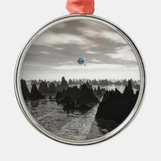 Ornamento De Metal Esferas azuis misteriosas