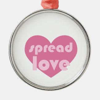 Ornamento De Metal Espalhe o amor (geral)