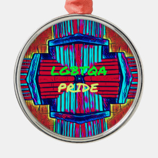 Ornamento De Metal 'Espectro inclusivo do arco-íris do ORGULHO de