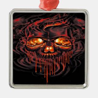 Ornamento De Metal Esqueletos vermelhos sangrentos