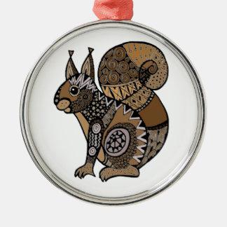 Ornamento De Metal Esquilo