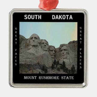 Ornamento De Metal Estado de South Dakota o Monte Rushmore
