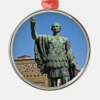 Ornamento De Metal Estátua de Trajan em Roma, Italia