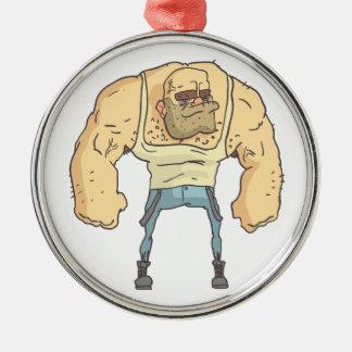Ornamento De Metal Estilo esboçado da história em quadrinhos da