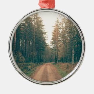 Ornamento De Metal Estrada de terra de Brown entre o dia com folhas