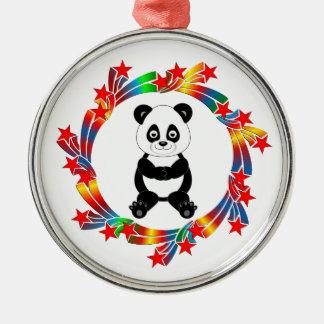 Ornamento De Metal Estrelas da panda