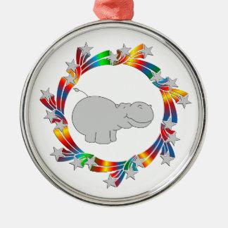 Ornamento De Metal Estrelas do hipopótamo