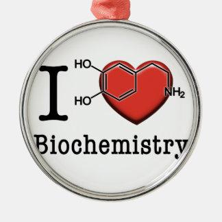 Ornamento De Metal Eu amo a bioquímica