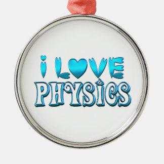 Ornamento De Metal Eu amo a física