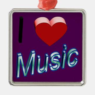 Ornamento De Metal Eu amo a música 2