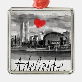 Ornamento De Metal Eu amo Adelaide