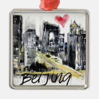 Ornamento De Metal Eu amo Beijing