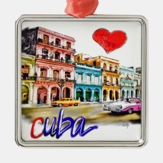 Ornamento De Metal Eu amo Cuba
