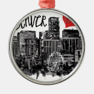 Ornamento De Metal Eu amo Denver