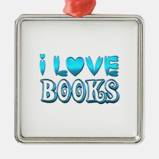Ornamento De Metal Eu amo livros