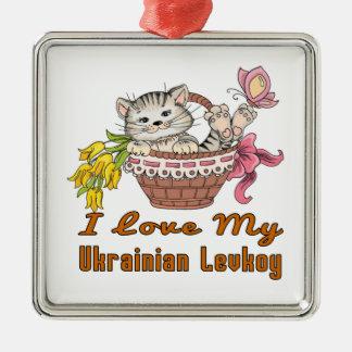 Ornamento De Metal Eu amo meu Levkoy ucraniano