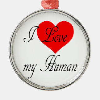 Ornamento De Metal Eu amo meu ser humano