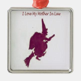 Ornamento De Metal Eu amo minha mãe em law1