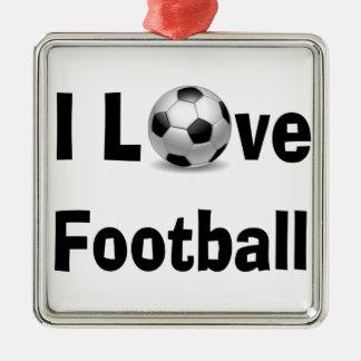 Ornamento De Metal Eu amo o futebol