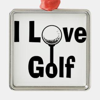 Ornamento De Metal Eu amo o golfe