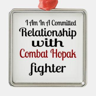 Ornamento De Metal Eu estou em uma relação cometida com combate Hopak