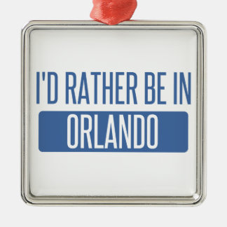 Ornamento De Metal Eu preferencialmente estaria em Orlando