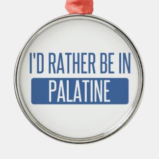 Ornamento De Metal Eu preferencialmente estaria em Palatine