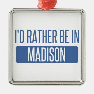 Ornamento De Metal Eu preferencialmente estaria em WI de Madison