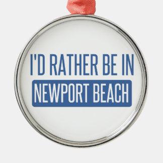 Ornamento De Metal Eu preferencialmente estaria na praia de Newport