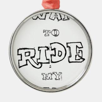 Ornamento De Metal Eu quero montar minha bicicleta