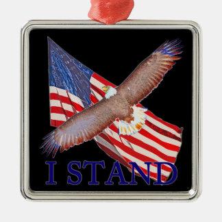 Ornamento De Metal eu represento América