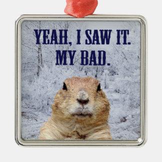 Ornamento De Metal Eu vi-o dia de Groundhog
