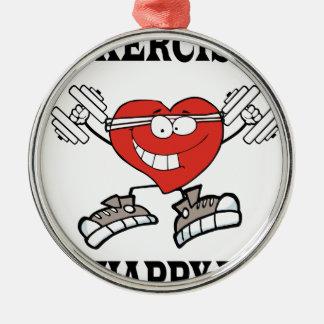 Ornamento De Metal exercício heart2