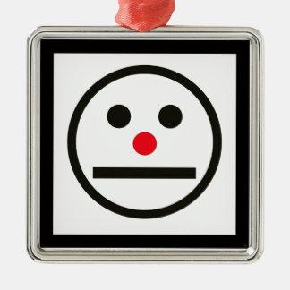 Ornamento De Metal Expressão Relaxed da cara com nariz vermelho