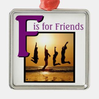 Ornamento De Metal F para amigos