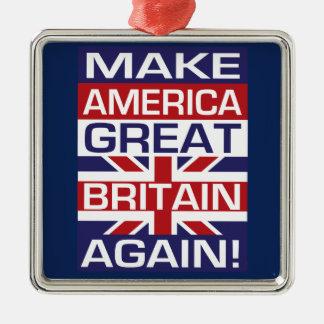 Ornamento De Metal Faça América Grâ Bretanha outra vez!