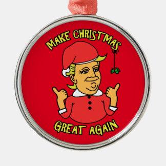 Ornamento De Metal Faça o excelente do Natal outra vez