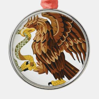 Ornamento De Metal Falcão e cobra