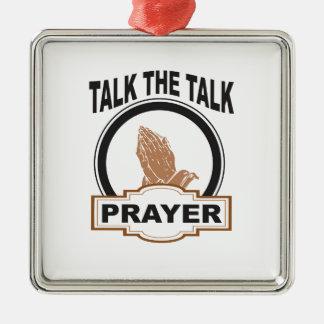 Ornamento De Metal fale a oração da conversa yeah