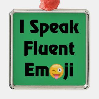 Ornamento De Metal Fale Emoji fluente