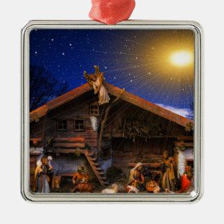 Ornamento De Metal Favor da história do Natal