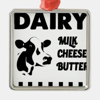 Ornamento De Metal Fazenda de leiteria fresca, manteiga do queijo do