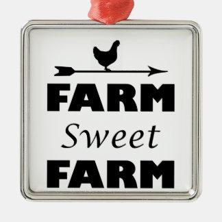 Ornamento De Metal fazenda doce da fazenda