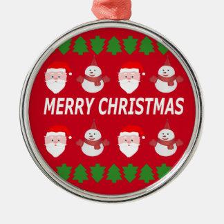 Ornamento De Metal Feliz Natal