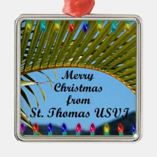 Ornamento De Metal Feliz Natal de St Thomas