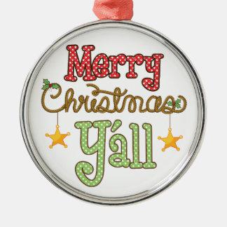 Ornamento De Metal Feliz Natal você