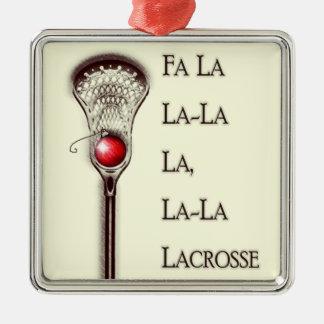 Ornamento De Metal Feriados do Lacrosse